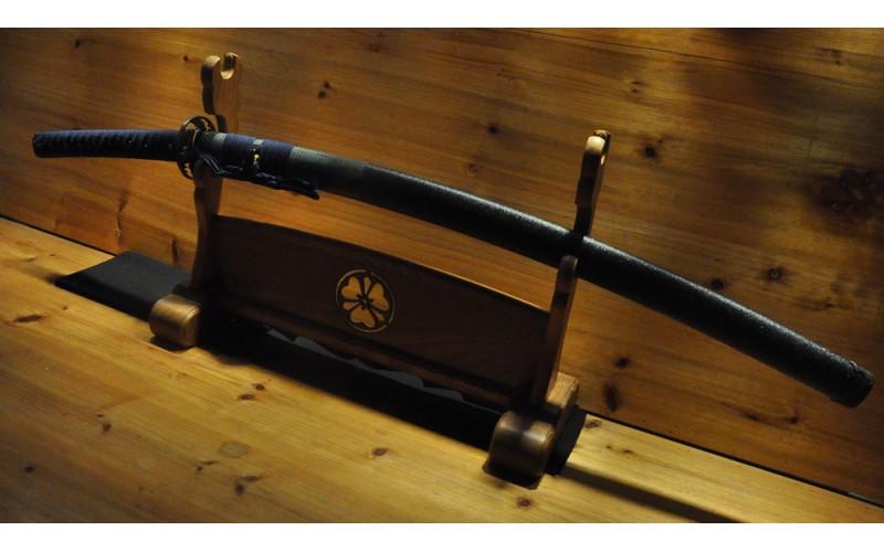 Deep Sori Shinogi Zukuri Nami Koshirae Hishi-Gami Same Saya Japanese Sword