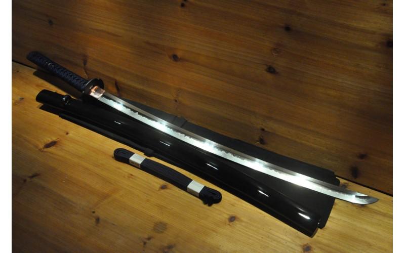 High Quality Higo Iron Mokko Tsuba Dotanuki Real Silk Ito Choji Japanese Sword