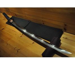 High Quality Nami Koshirae Black Gloss Saya Hishi-Gami O kissaki Dotanuki Choji Japanese Sword