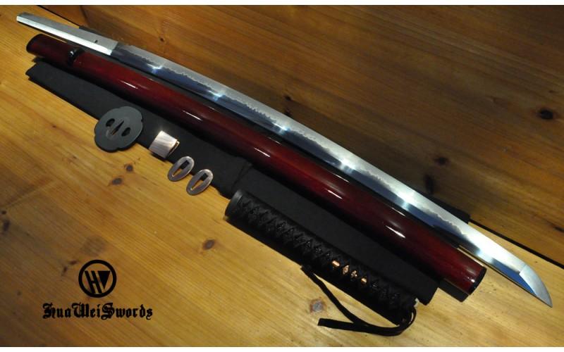 High Quality Higo Iron Mokko tsuba Dotanuki Black Real silk ito Choji Japanese Sword